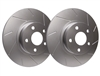FRONT PAIR - Slotted Rotors With Silver ZRC Coating - T26-373-P