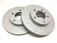 FRONT PAIR - Slotted Rotors With Gray ZRC - T06-3124