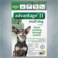 Advantage II Green (Dogs under 10 lbs) 6 pack