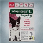 Advantage II Red (Dogs 21-55 lbs)  6 pack