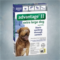 Advantage II Blue (Dogs 55+ lbs) 6 pack