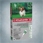 Advantix II Green (Dogs under 10lbs) 6 Pack