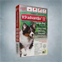 Advantix II Red (Dogs 21-55lbs) - 6 Pack