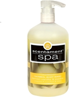 Scentament Spa Oatmeal Body Wash Lemon Vanilla  16.oz