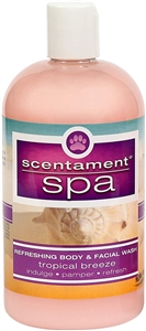 Scentament Spa Tropical Breeze 20:1 Body & Facial Wash 16.oz