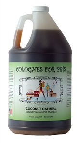 Coconut Oatmeal Shampoo 50:1 Gallon by Colognes for Pets