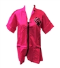 Pipped Pocket Zipper Jacket with Paw Pink