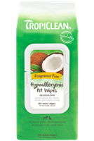 TROPICLEAN Hypo Allergenic Wipes 100ct *** TEMP OUT OF STOCK ***