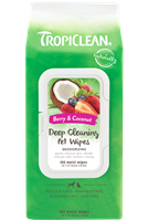 TROPICLEAN Deep Clean Wipes 100ct  *** TEMP OUT OF STOCK ***
