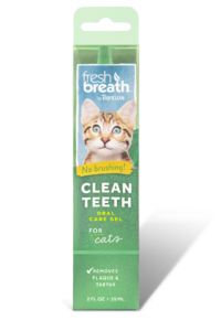 Fresh Breath Clean Teeth Oral Care Gel for Cats 2.oz