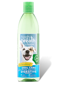 TROPICLEAN Fresh Breath Oral Care Water Additive Plus Digestive Support 16oz
