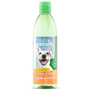 Tropiclean Fresh Breath Plus Water Additive Skin & Coat 16.oz