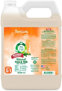 Tropiclean All Natural Flea & Tick Shampoo Max Strength Gallon