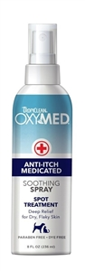 Tropiclean Oxy-Med Anti-Itch Spray 8.oz