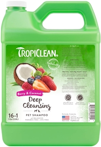 Tropiclean Berry & Coconut Deep Cleaning  16:1 Shampoo Gallon