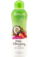 Tropiclean Berry & Coconut Deep Cleaning Shampoo 20.oz