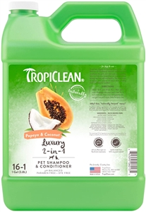 Tropiclean Papaya & Coconut (Luxury 2 in 1) Shampoo Gallon