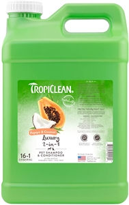 Tropiclean Papaya & Coconut (Luxury 2 in 1) Shampoo 2.5 Gallon