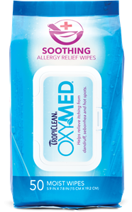 Tropiclean OxyMed Soothing Allergy Relief Wipes 50 Ct