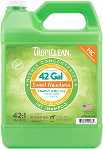 Tropiclean Highly Concentrated Sweet Mandarin Gallon