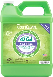 Tropiclean Highly Concentrated Pure Plum Shampoo Gallon