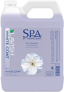 Tropiclean SPA White Coat Shampoo Gallon