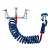 "Deluxe 8"" Wall-mounted Faucet & Lightweight Aluminum Spray Unit with coiled Poly hose"