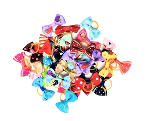 50 ct. Assorted Dog Bows