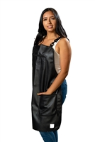 Premium Vinyl Bathing Aprons with Pockets - Black
