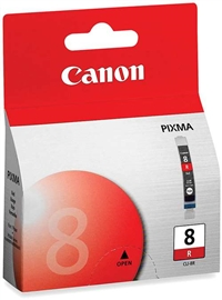 Canon 0626B002 (CLI-8R) OEM Red Ink Cartridge