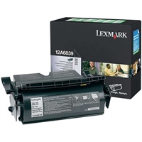 Lexmark 12A6839 OEM Return Program High Yield Black For Label Applications Toner Cartridge