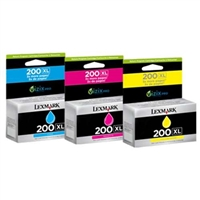 Lexmark 14L0269 (#200XL C/M/Y) OEM Ink Cartridge High Yield Combo Pack (C/M/Y)