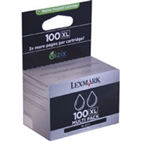Lexmark 14N0683 (#100XL) OEM Black Ink Cartridge 2-pack