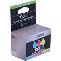 Lexmark 14N0684 OEM 3 Color Inkjet Cartridge Multipack