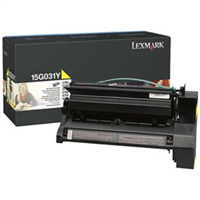 Lexmark 15G031Y OEM Yellow Toner Cartridge