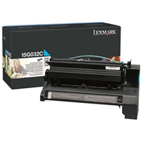 Lexmark 15G032C OEM High Yield Cyan Toner Cartridge