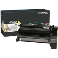 Lexmark 15G032Y OEM High Yield Yellow Toner Cartridge