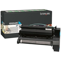 Lexmark 15G042C OEM Return Program High Yield Cyan Toner Cartridge