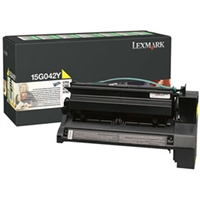 Lexmark 15G042Y OEM Return Program High Yield Yellow Toner Cartridge