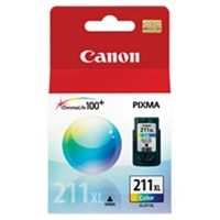 Canon 2975B001 (CL-211XL) OEM Color Ink Cartridge