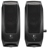 Logitech S120 Multimedia Speaker Set, Black