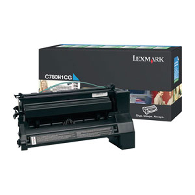 Lexmark C780H1CG OEM Return Program High Yield Cyan Toner Cartridge