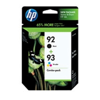 HP C9513FN (HP 92/93) OEM Ink Cartridge Combo Pack (Bk & Clr)