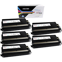 Brother TN750 Compatible Black Toner Cartridge 5-Pack