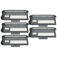 Brother TN780 Compatible High Yield Black Toner Cartridge Five Pack Value Bundle