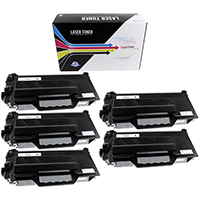 Brother TN880 Compatible Toner Cartridge High Yield 5-Pack