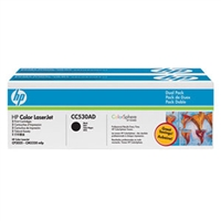 HP CC530AD (HP 304A) OEM Black Toner Cartridge 2-pack