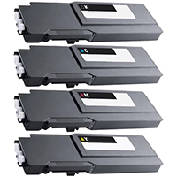 Dell S3840CDN Compatible High Yield Toner Cartridge Color Set
