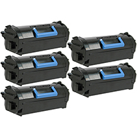 Dell 593-BBYU Compatible Extra High Yield Toner Cartridge 5-Pack