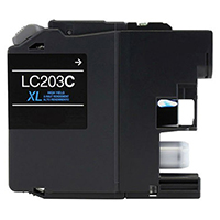 Brother LC203C Compatible Cyan Ink Cartridge